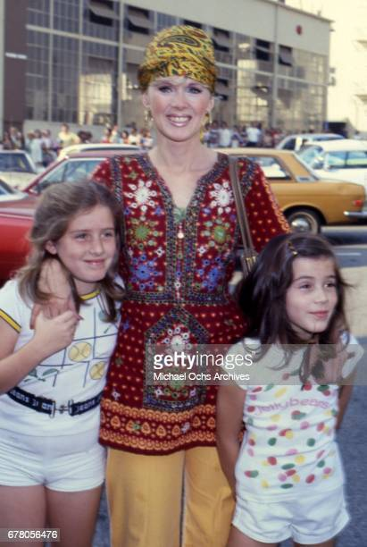 Actress Connie Stevens attends an event with her daughters Joely Fisher and Tricia Leigh Fisher in circa 1974