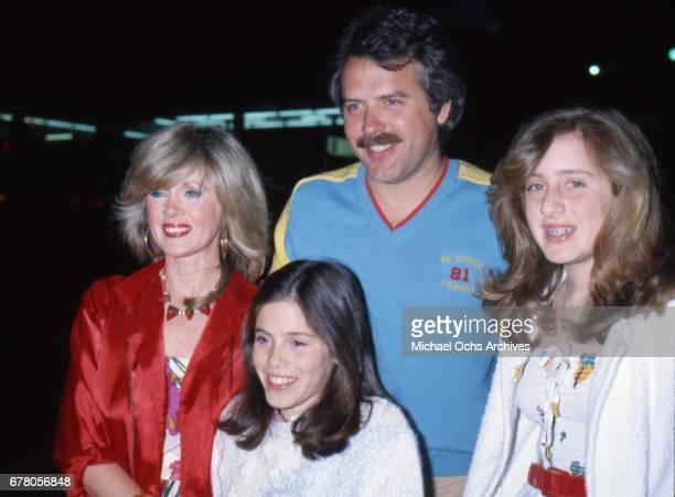 Actress Connie Stevens attends an event with her daughters Tricia Leigh Fisher Joely Fisher and a guest attend an event in circa 1979