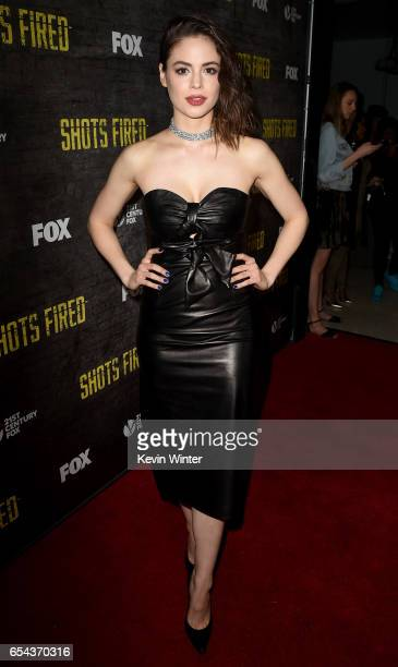 Actress Conor Leslie arrives at a screening and QA for FOX TV's 'Shots Fired' at the Pacific Design Center on March 16 2017 in West Hollywood...