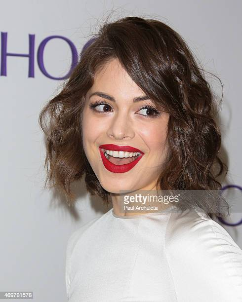Actress Conor Leslie attends the launch party for Paul Feig's new show 'Other Space' at The London on April 14 2015 in West Hollywood California