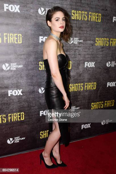 Actress Conor Leslie attends the screening of FOX's 'Shots Fired' at Pacific Design Center on March 16 2017 in West Hollywood California