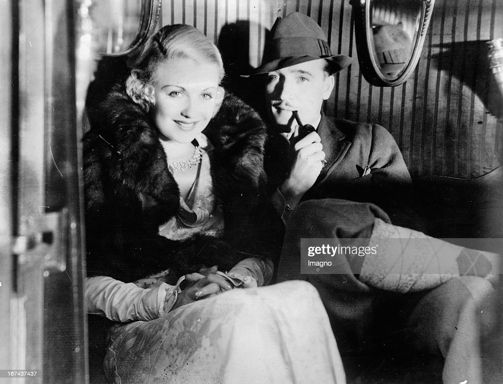 Actress Constance Bennett and her husband Marquis de la Falaise. About 1930. Photograph. (Photo by Imagno/Getty Images) Schauspielerin Constance Bennett und Ehemann Marquise de la Falaise. Um 1930. Photographie.