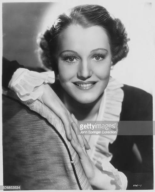 Actress Constance Cummings in Ruffled Blouse