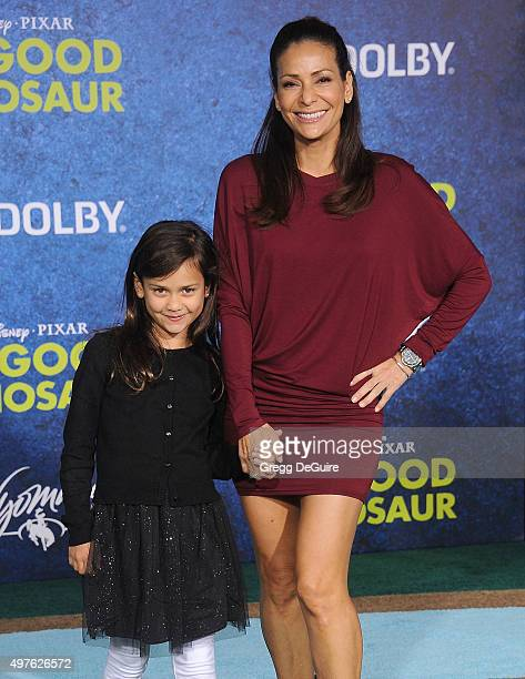 Actress Constance Marie and daughter Luna Marie Katich arrive at the premiere of DisneyPixar's The Good Dinosaur on November 17 2015 in Hollywood...