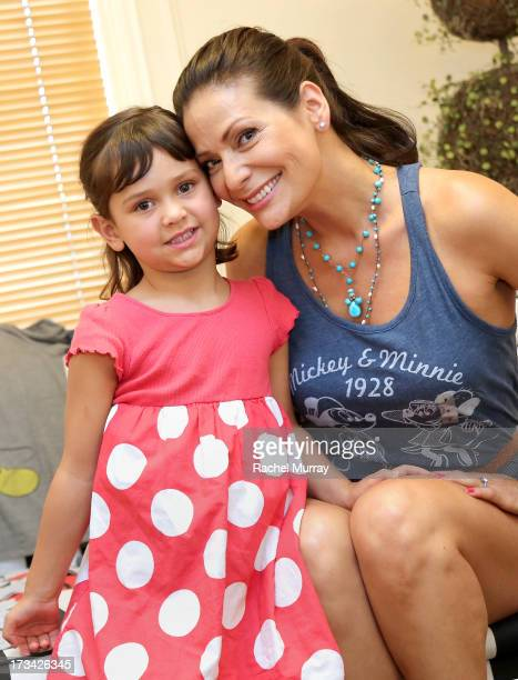 Actress Constance Marie and daughter Luna Marie Katich attend Mickey Through The Decades Collection Launch Celebration at Walt Disney Studio Lot on...