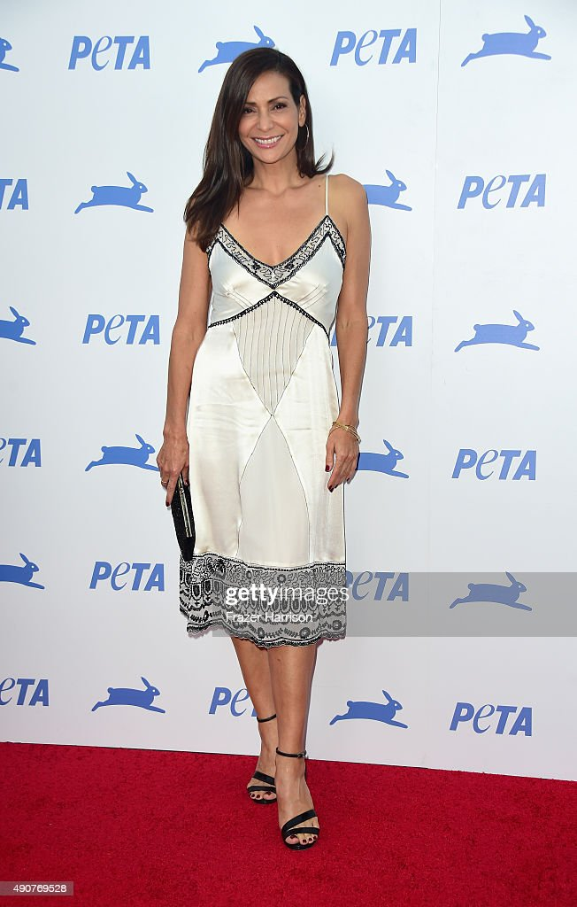 Actress Constance Marie arrives at PETA's 35th Anniversary Party at Hollywood Palladium on September 30, 2015 in Los Angeles, California.