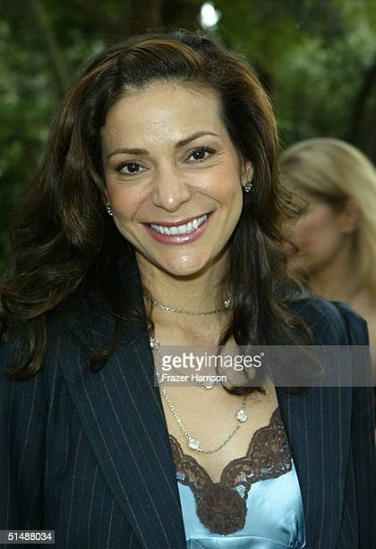 Actress Constance Marie arrives at the 10th Annual Safari Brunch on October 16 2004 at the Playboy Mansion in Beverly Hills California