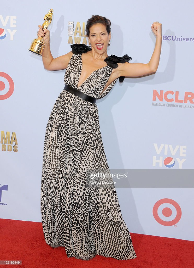 Actress Constance Marie poses in the press room at the 2012 NCLR ALMA Awards at Pasadena Civic Auditorium on September 16, 2012 in Pasadena, California.