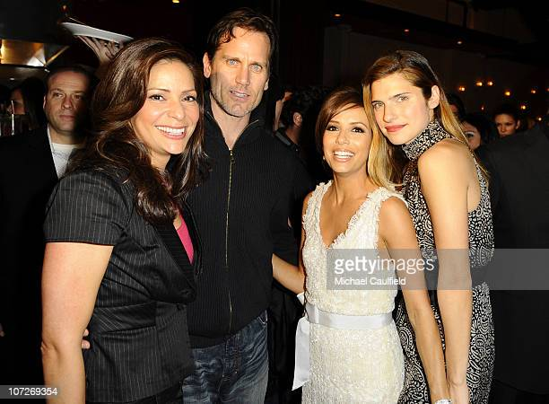 Actress Constance Marie with her fiance Kent Katic actress Eva Longoria Parker and Lake Bell attend the HORNITOS Tequila Presents Beso Restaurant...