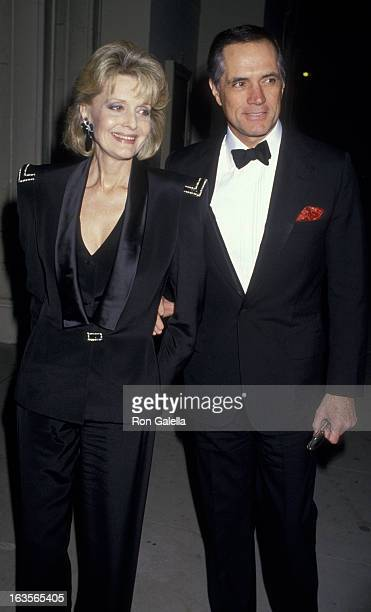 Actress Constance Towers and actor John Gavin attend American Ballet Performance on March 3, 1987 at the Shrine Auditorium in Los Angeles, California.