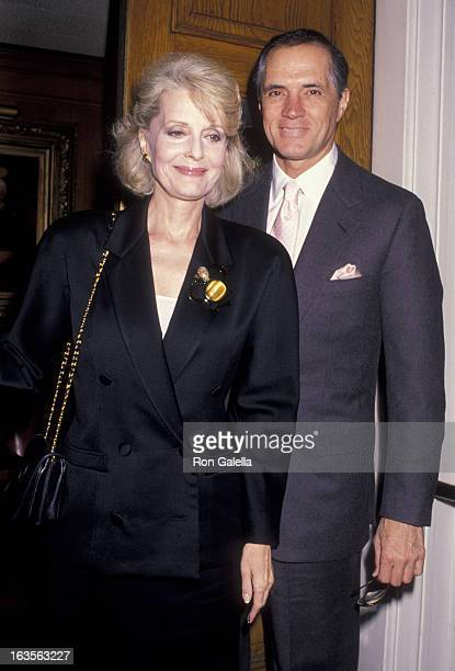 Actress Constance Towers and actor John Gavin attend Ed McMahon Publisher's Clearing House Press Conference on April 8, 1990 at Chasen's Restaurant...