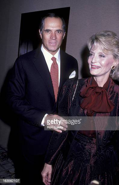 Actress Constance Towers and actor John Gavin attend Ed Zschau Fundraiser on September 7, 1986 at the Century Plaza Hotel in Century City, California.