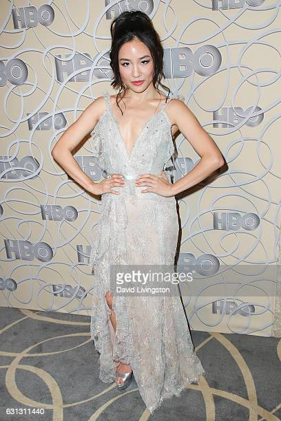 Actress Constance Wu arrives at HBO's Official Golden Globe Awards after party at the Circa 55 Restaurant on January 8 2017 in Los Angeles California