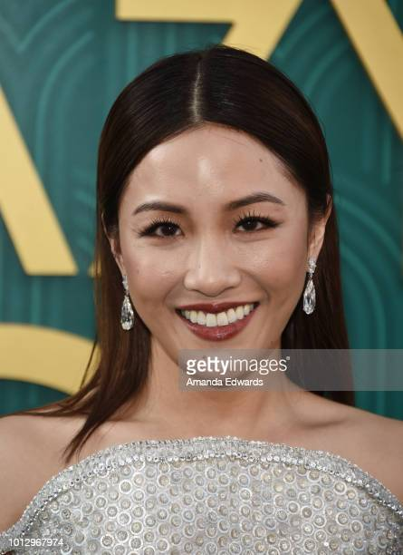Actress Constance Wu arrives at the Warner Bros Pictures' 'Crazy Rich Asians' premiere at the TCL Chinese Theatre IMAX on August 7 2018 in Hollywood...