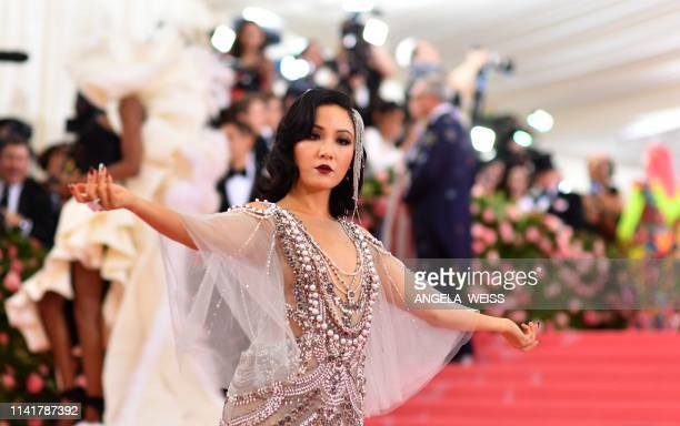 US actress Constance Wu arrives for the 2019 Met Gala at the Metropolitan Museum of Art on May 6 in New York The Gala raises money for the...