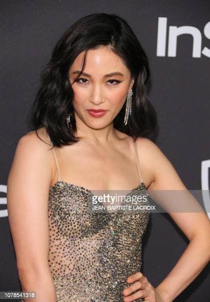 US actress Constance Wu arrives for the Warner Bros and In Style 20th annual post Golden Globes party at the Oasis Courtyard of the Beverly Hilton...