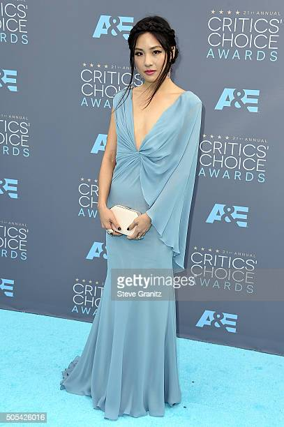 Actress Constance Wu attends the 21st Annual Critics' Choice Awards at Barker Hangar on January 17 2016 in Santa Monica California