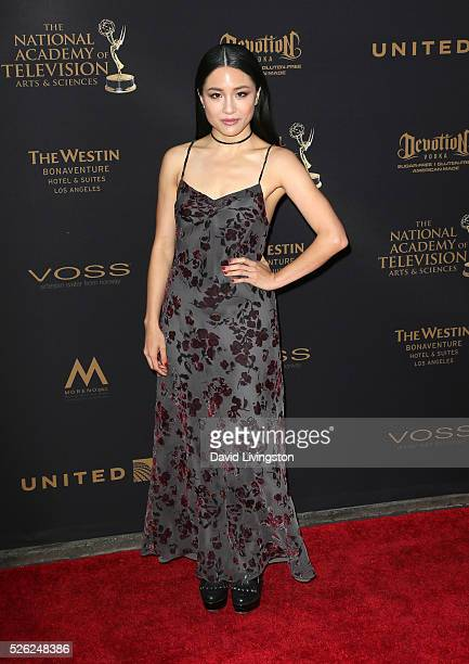 Actress Constance Wu attends the 43rd Annual Daytime Creative Arts Emmy Awards at Westin Bonaventure Hotel on April 29 2016 in Los Angeles California