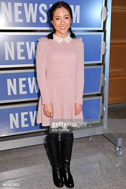 Actress Constance Wu poses for photos during the Fresh Off The Boat Washington DC Screening at The Newseum on January 21 in Washington DC