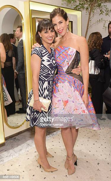 Actress Constance Zimmer and jewelry designer Irene Neuwirth attend the Irene Neuwirth Flagship Grand Opening on October 30 2014 in West Hollywood...