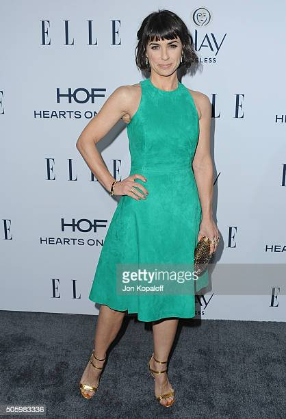 Actress Constance Zimmer arrives at ELLE's 6th Annual Women In Television Dinner at Sunset Tower Hotel on January 20 2016 in West Hollywood California