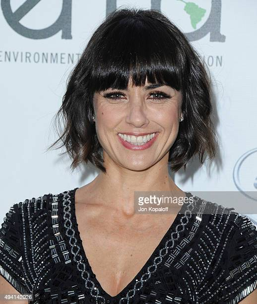 Actress Constance Zimmer arrives at Environmental Media Association Hosts Its 25th Annual EMA Awards Presented By Toyota And Lexus at Warner Bros...