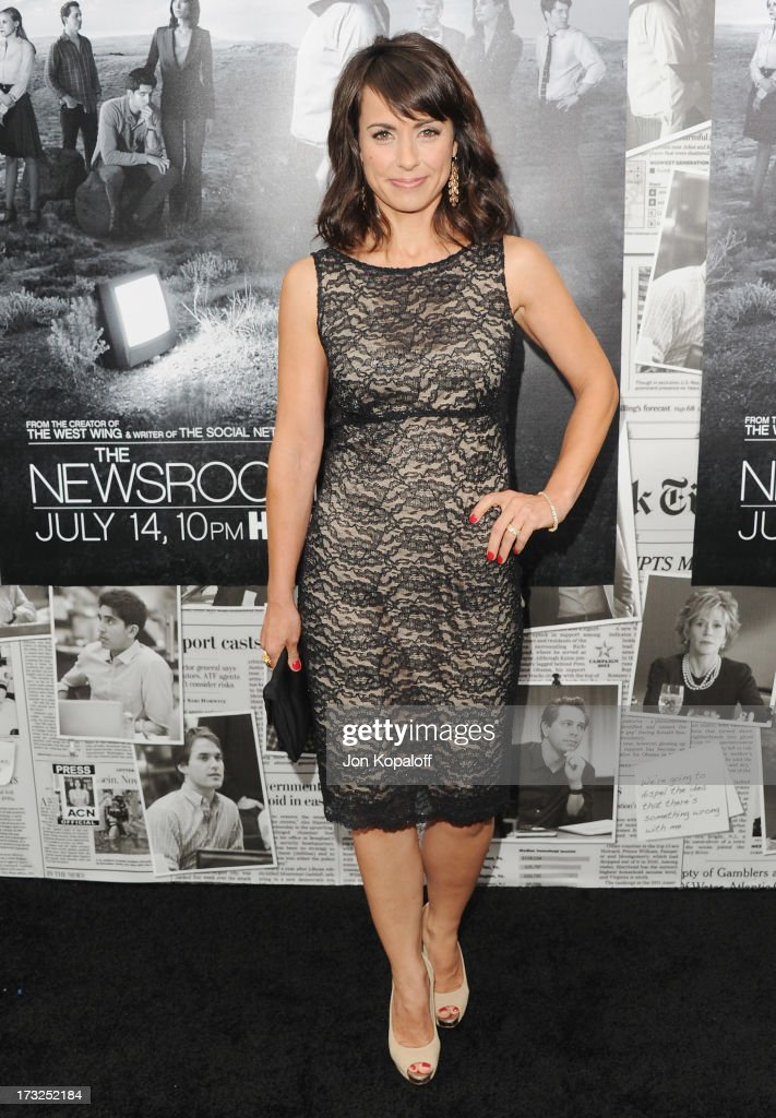Actress Constance Zimmer arrives at HBO's Season 2 Premiere Of 'The Newsroom' at Paramount Theater on the Paramount Studios lot on July 10, 2013 in Hollywood, California.