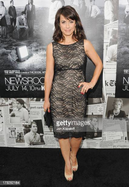 Actress Constance Zimmer arrives at HBO's Season 2 Premiere Of The Newsroom at Paramount Theater on the Paramount Studios lot on July 10 2013 in...