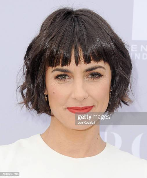 Actress Constance Zimmer arrives at The Hollywood Reporter's Annual Women In Entertainment Breakfast at Milk Studios on December 9 2015 in Los...