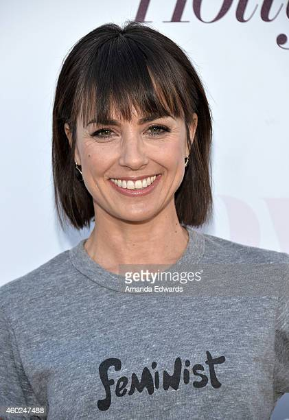 Actress Constance Zimmer arrives at The Hollywood Reporter's Women In Entertainment Breakfast at Milk Studios on December 10 2014 in Los Angeles...