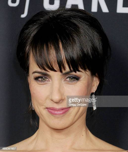 Actress Constance Zimmer arrives at the 'House Of Cards' Season 2 special screening at Directors Guild Of America on February 13 2014 in Los Angeles...