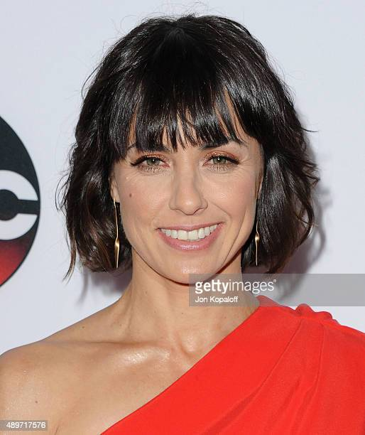 """Actress Constance Zimmer arrives at the Premiere Of Marvel's """"Agents Of S.H.I.E.L.D."""" at Pacific Theatre at The Grove on September 23, 2015 in Los..."""