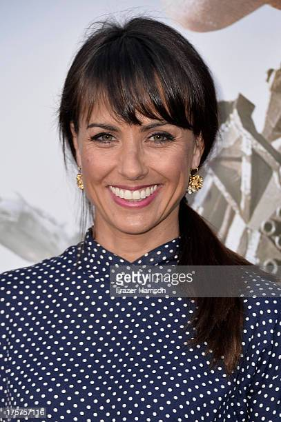 Actress Constance Zimmer arrives at the premiere of TriStar Pictures' Elysium at Regency Village Theatre on August 7 2013 in Westwood California