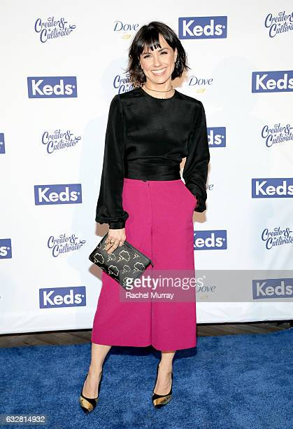 Actress Constance Zimmer attends Create Cultivate 100 hosted by Create Cultivate and Keds at The Greenhouse on January 26 2017 in Culver City...