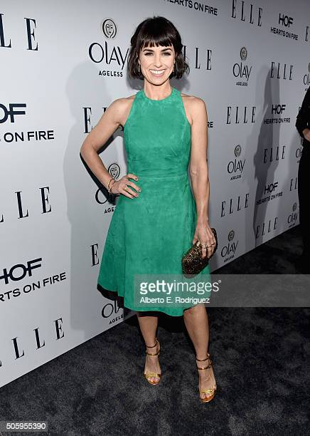 Actress Constance Zimmer attends ELLE's 6th Annual Women in Television Dinner Presented by Hearts on Fire Diamonds and Olay at Sunset Tower on...