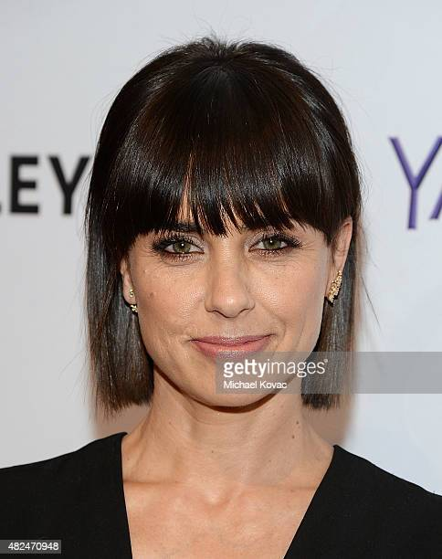 Actress Constance Zimmer attends Paley Live An Evening With Lifetime's 'UnREAL' on July 30 2015 in Los Angeles California