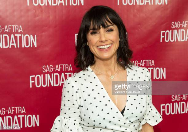Actress Constance Zimmer attends SAGAFTRA Foundation Conversations screening of Unreal at SAGAFTRA Foundation Screening Room on May 17 2018 in Los...
