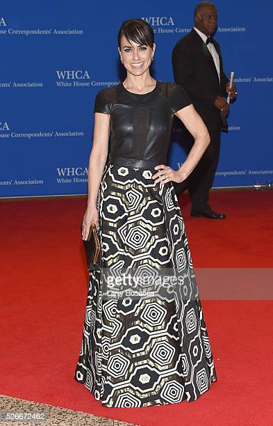 Actress Constance Zimmer attends the 102nd White House Correspondents' Association Dinner on April 30 2016 in Washington DC