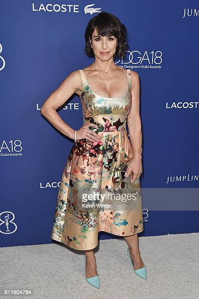Actress Constance Zimmer attends the 18th Costume Designers Guild Awards with Presenting Sponsor LACOSTE at The Beverly Hilton Hotel on February 23...