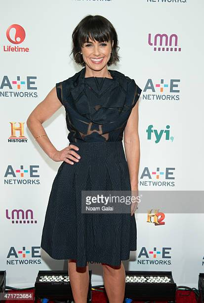 Actress Constance Zimmer attends the 2015 A+E Network Upfront at Park Avenue Armory on April 30, 2015 in New York City.