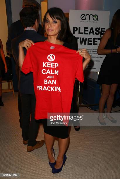 Actress Constance Zimmer attends the 23rd Annual Environmental Media Awards presented by Toyota and Lexus at Warner Bros Studios on October 19 2013...