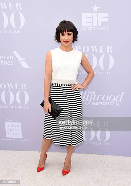 Actress Constance Zimmer attends the 24th annual Women in Entertainment Breakfast hosted by The Hollywood Reporter at Milk Studios on December 9 2015...