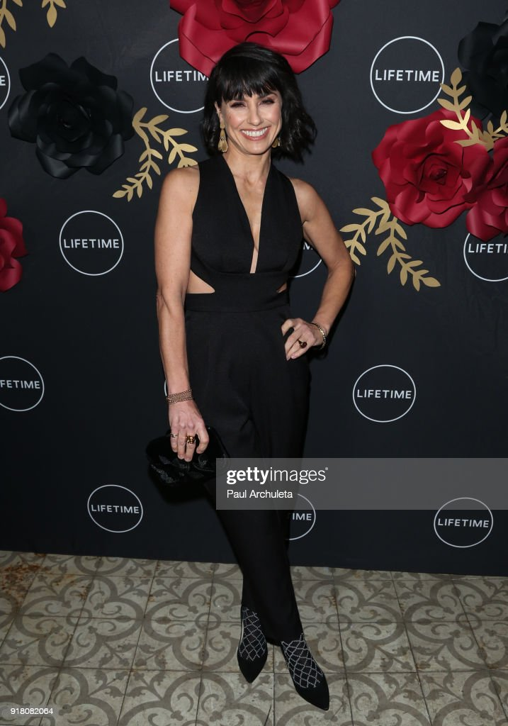 Actress Constance Zimmer attends the Anti-Valentine's bash for premieres of 'UnREAL' And 'Mary Kills People' at Eveleigh on February 13, 2018 in West Hollywood, California.