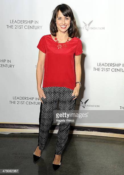 Actress Constance Zimmer attends The Lourdes Foundation Leadership in the 21st Century Event with His Holiness the 14th Dalai Lama at the California...