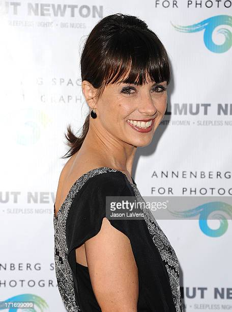 Actress Constance Zimmer attends the opening of 'Helmut Newton White Women Sleepless Nights Big Nudes' at Annenberg Space For Photography on June 27...