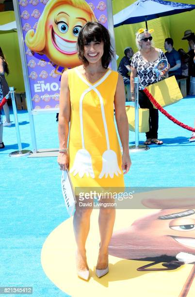 Actress Constance Zimmer attends the premiere of Columbia Pictures and Sony Pictures Animation's 'The Emoji Movie' at Regency Village Theatre on July...