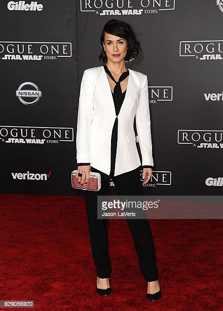 Actress Constance Zimmer attends the premiere of Rogue One A Star Wars Story at the Pantages Theatre on December 10 2016 in Hollywood California