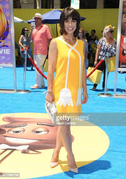 Actress Constance Zimmer attends the premiere of 'The Emoji Movie' at Regency Village Theatre on July 23 2017 in Westwood California