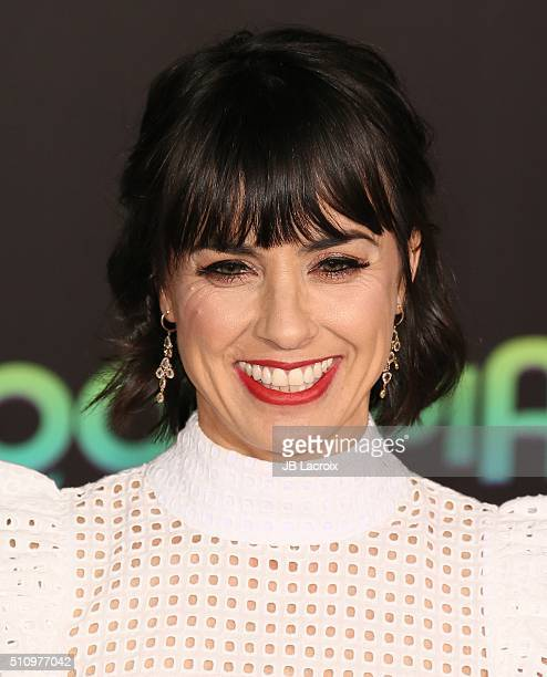 Actress Constance Zimmer attends the premiere of Walt Disney Animation Studios' 'Zootopia' held at the El Capitan Theatre on February 17 2016 in...