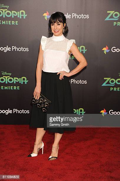 Actress Constance Zimmer attends the premiere of Walt Disney Animation Studios' 'Zootopia' at the El Capitan Theatre on February 17 2016 in Hollywood...